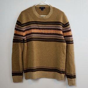Lands End Brown Wool Kaschmir Blend Sweater
